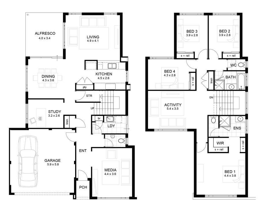 Floor Plan of a House (Ground