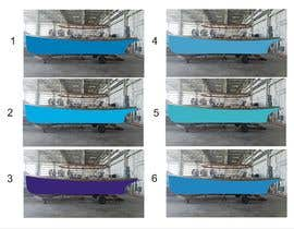 #13 for Color render an existing boat hull from a digital photo af djamalidin