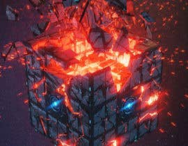 #32 for I need a exploding sci-fi cube in space af fauzifau