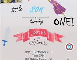 #26 для I need an inviation card design for my son's first Birthday от chaimaaitali145