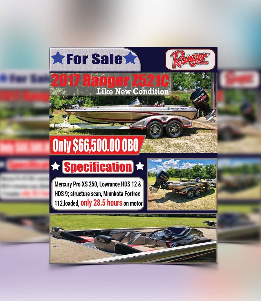 "Penyertaan Peraduan #41 untuk need poster today for selling boat "" used boat "" need inspiration"