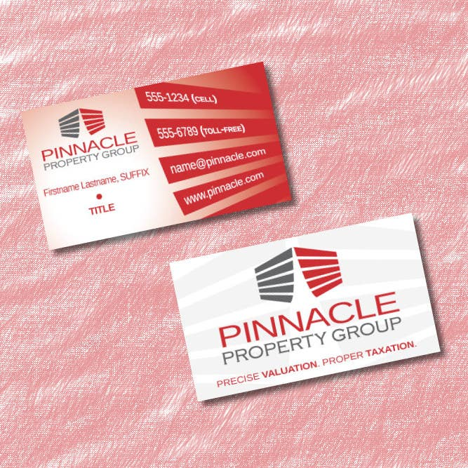 Contest Entry #                                        63                                      for                                         Business Card Design for Pinnacle Property Group - POTENTIAL LONG-TERM EMPLOYER