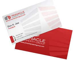 #32 pentru Business Card Design for Pinnacle Property Group - POTENTIAL LONG-TERM EMPLOYER de către creationz2011
