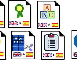 #14 for Set of 7 Icon Illustrations needed for online-shop (language learning related) by nurnobijashim