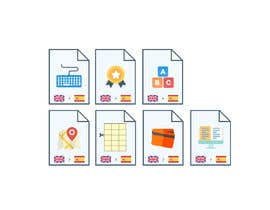 #4 cho Set of 7 Icon Illustrations needed for online-shop (language learning related) bởi Mayursinh007