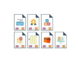 #5 cho Set of 7 Icon Illustrations needed for online-shop (language learning related) bởi Mayursinh007