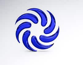 #32 for Make my attached logo 3D. I want them to be like teardrop shape. Color i want blue chrome look. by Kmpicstudio
