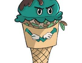 #5 for I would like a digital coloured drawing of cartoon ice cream cone character wearing a military camo stlye bandana by keeleynolan