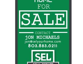 #8 untuk Use different font (your discretion) than the bold text SEL logo to better contrast for a 2' x 3' real estate sign with a 2' triangle on the bottom to resemble a text message bubble. oleh Eastahad