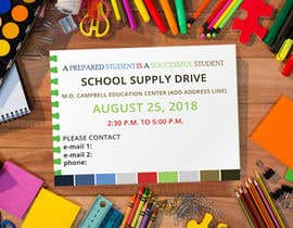 #12 for School Supply Drive Flyer Design for Teachers/Students af Farid214