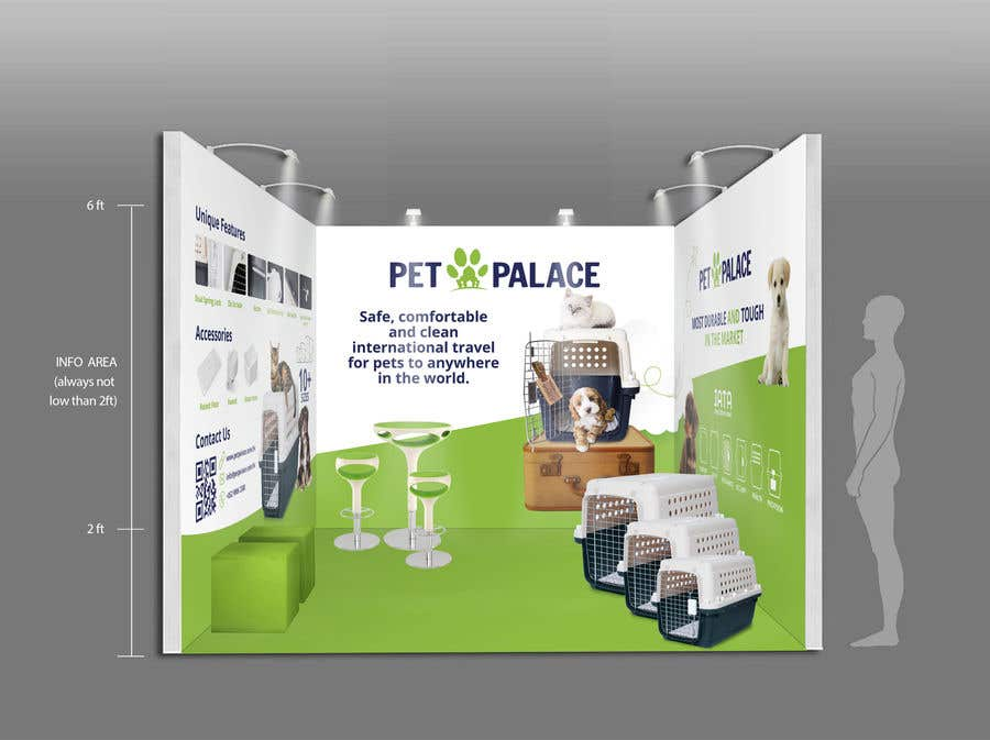 Proposition n°33 du concours Exhibition Booth Wall Deco Design and Flyer Design