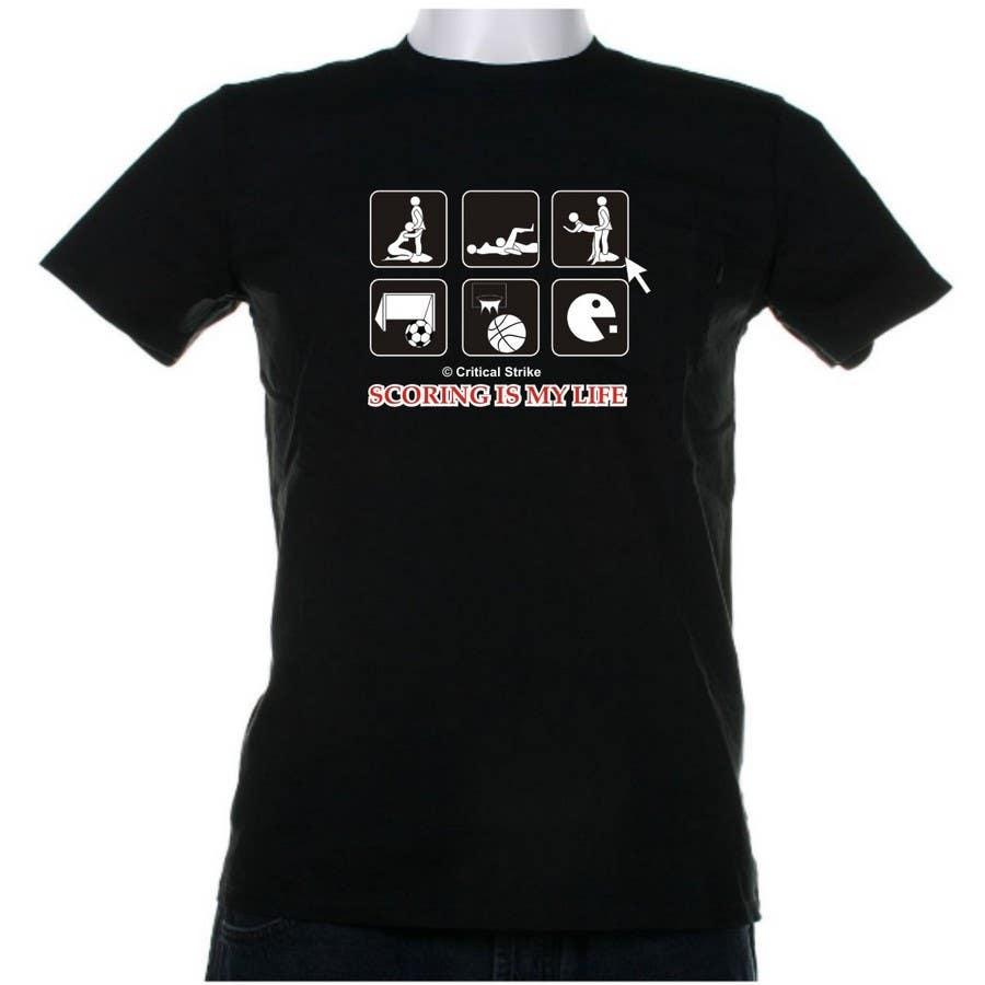 Inscrição nº 103 do Concurso para Gaming and scoring theme t-shirt design wanted