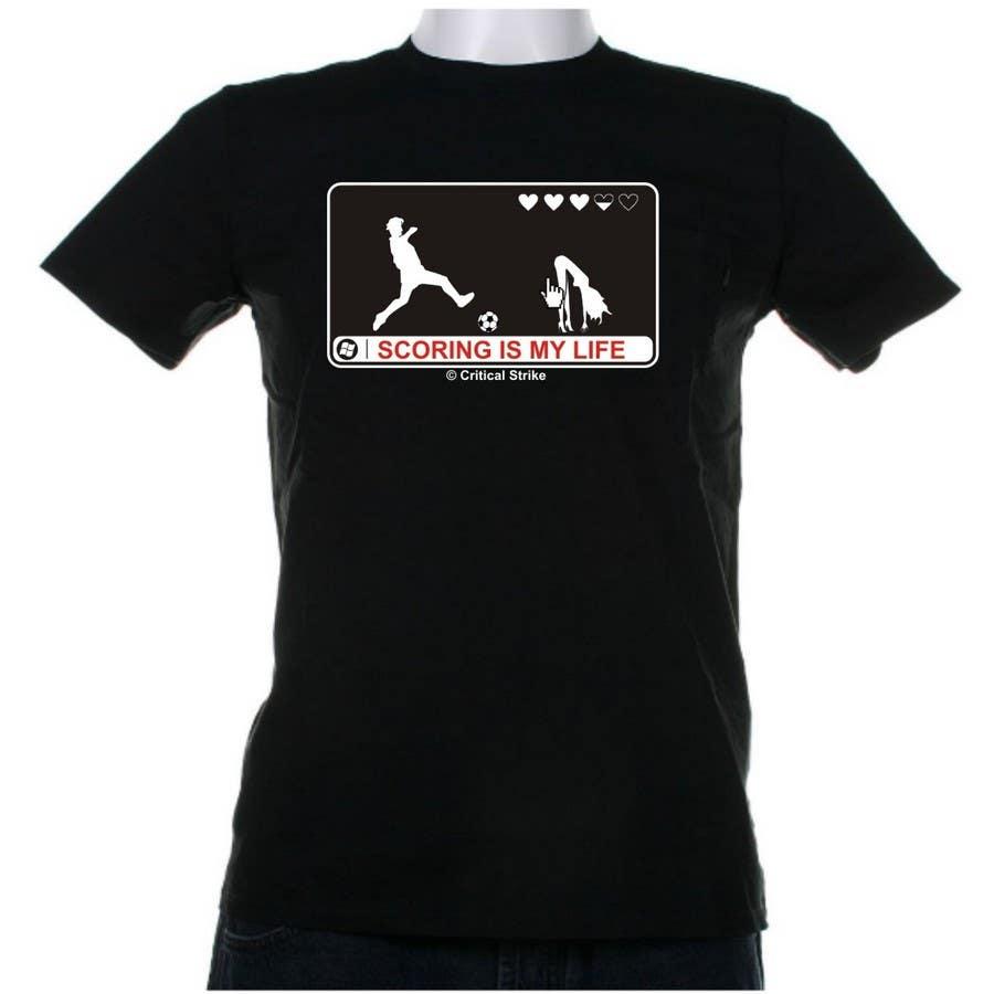 Inscrição nº 100 do Concurso para Gaming and scoring theme t-shirt design wanted
