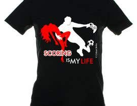 doarnora tarafından Gaming and scoring theme t-shirt design wanted için no 65