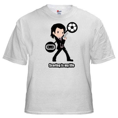 Inscrição nº 111 do Concurso para Gaming and scoring theme t-shirt design wanted