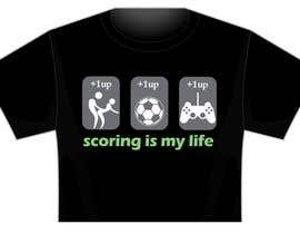 nº 59 pour Gaming and scoring theme t-shirt design wanted par taks0not