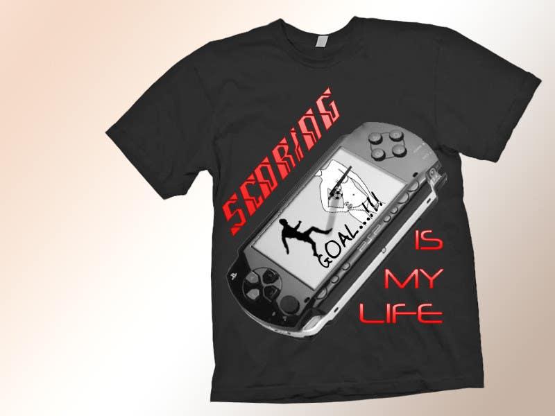 Inscrição nº 82 do Concurso para Gaming and scoring theme t-shirt design wanted