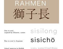 #34 para Name for a ramen restaurant por NTSM