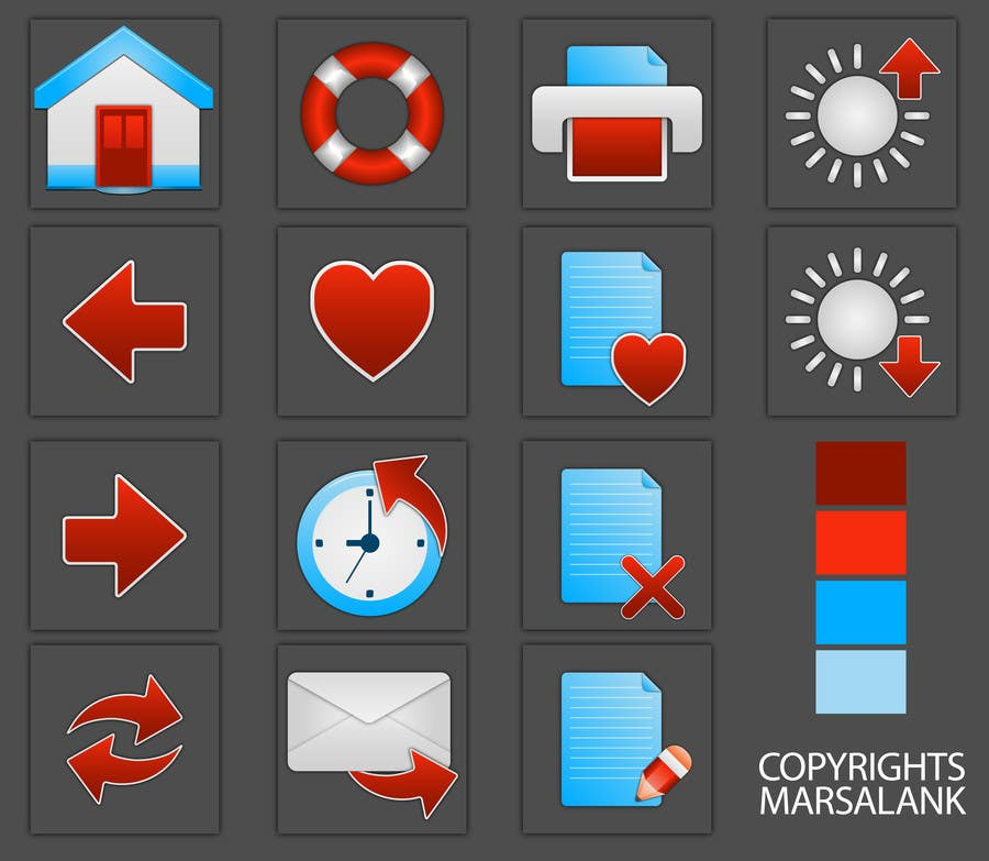Proposition n°                                        11                                      du concours                                         Icon or Button Design for I4 Web Browser Icons