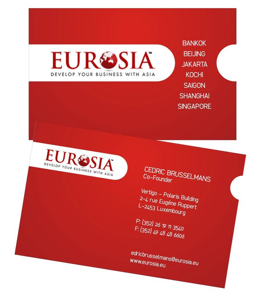 Kilpailutyö #13 kilpailussa Business Card Design for www.eurosia.eu