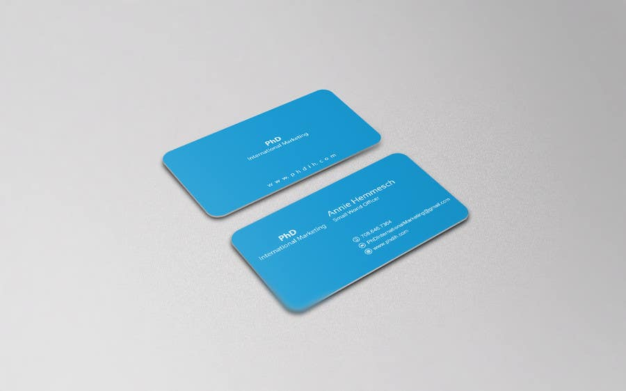Contest Entry 24 For Design Some Business Cards PhD International Marketing