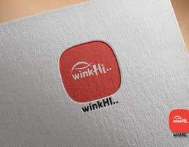 #63 untuk The name of the App is WinkHi. its a Social App where you can connect, meet new people, chat and find jobs. Looking for something fun, edgy. I have not decided on colors or fonts. Looking for creativity. Check the attachments oleh JdotAStudios