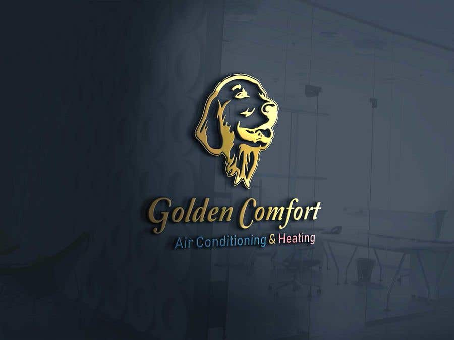 """Inscrição nº 2 do Concurso para I need help designing a logo for my air conditioning business. Currently the logo is my dog. The name of my company being """"Golden Comfort Air conditionjng an Heating"""". Contact me if you have any more questions. Thanks."""