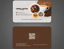 #182 for Business Card for Crema Aroma Coffee Shop by lubnakhan6969