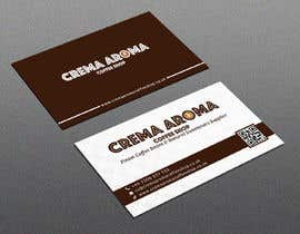 #8 for Business Card for Crema Aroma Coffee Shop by joney2428