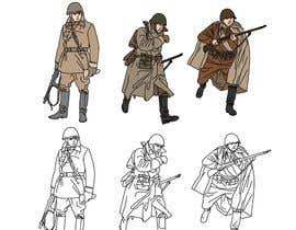 nº 16 pour Draw Soldiers WW2 for a board game counter par berragzakariae