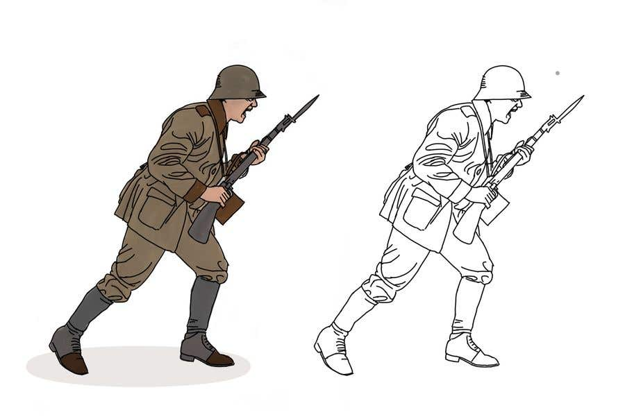Entry #23 by berragzakariae for Draw Soldiers WW2 for a board game