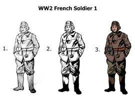 nº 15 pour Draw Soldiers WW2 for a board game counter par pmanage