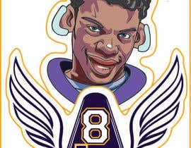 #23 for Lamar Jackson 8 Logo Tshirt af manesomnath1