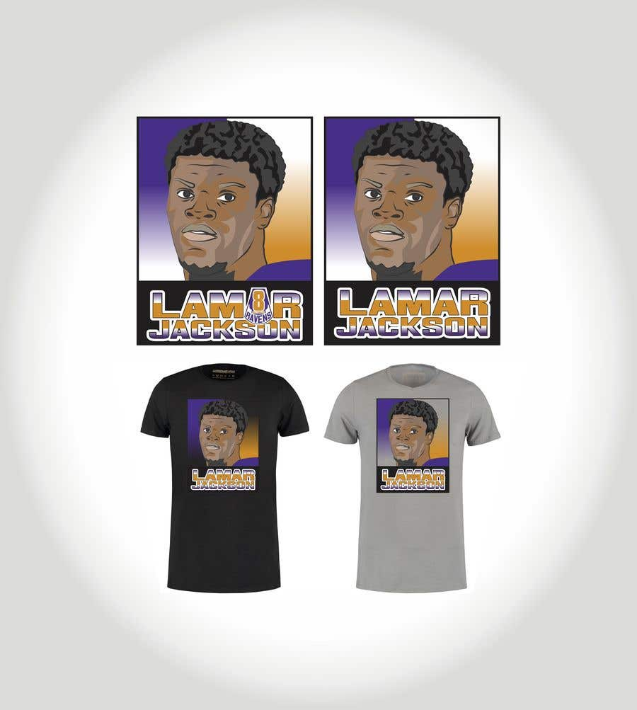 Konkurrenceindlæg #6 for Lamar Jackson 8 Logo Tshirt