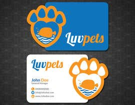 #59 pentru Create Business cards for Pet business de către papri802030