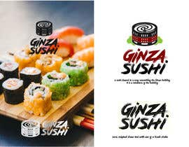 #27 for Logo design for new restaurant. The name is Ginza Sushi.   We are looking for classy logo with maroon, Black and touches of silver (silver bc of the meaning). Would also like a brushstroke look but a highly visible name. by sinzcreation