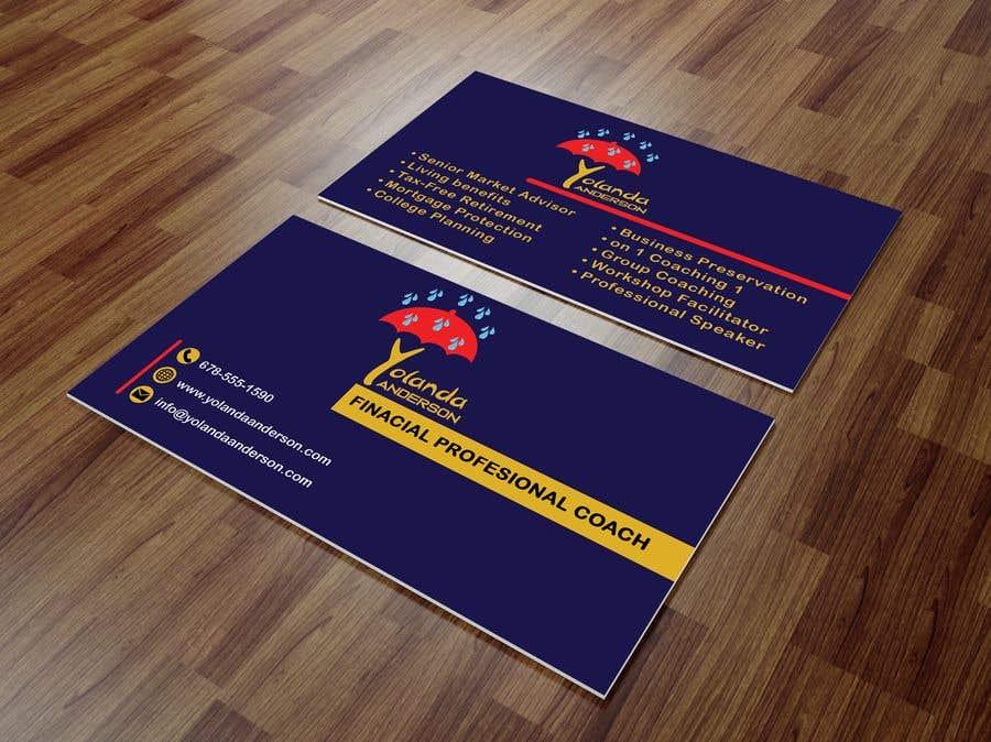 Penyertaan Peraduan #113 untuk Design Insurance Salesman Business Cards