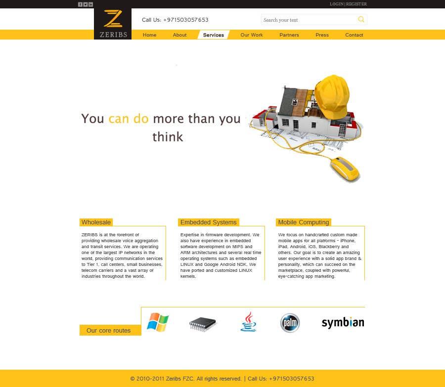 Konkurrenceindlæg #                                        2                                      for                                         Home page design