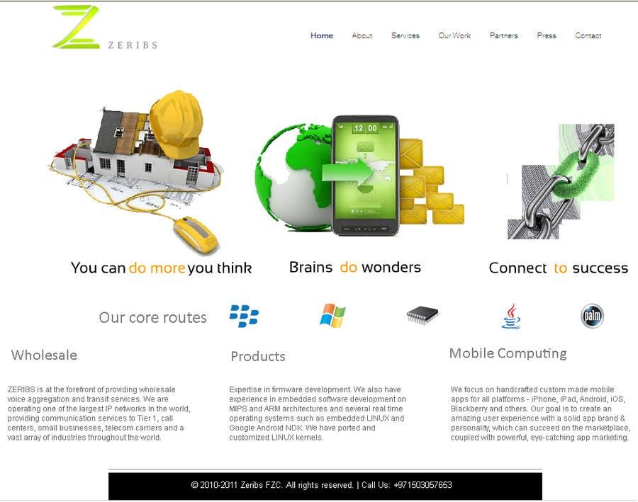 Konkurrenceindlæg #                                        3                                      for                                         Home page design