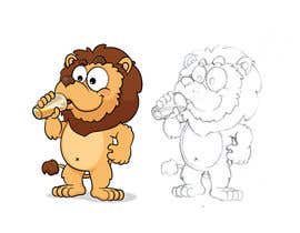 #30 for I want a cartoon lion drinking a beer glass af satherghoees1