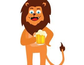 #16 for I want a cartoon lion drinking a beer glass by robsonpunk