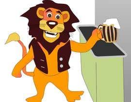 #29 for I want a cartoon lion drinking a beer glass af letindorko2