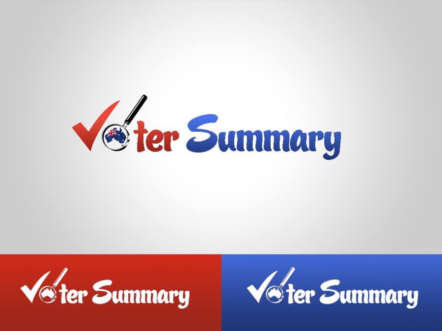 Bài tham dự cuộc thi #                                        1                                      cho                                         Logo Design for Voter Summary