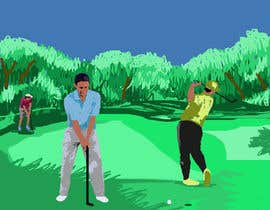 #2 for Golf Caricature Content by sonnybautista143