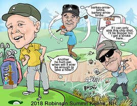 #5 untuk Golf Caricature Content oleh dukudraw