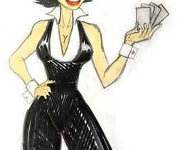 #8 para Illustration of a female joker or croupier de DanielAgresta