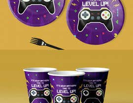 #17 for Design plates, cups, napkins for party supplies - Gaming theme by heypresentacion