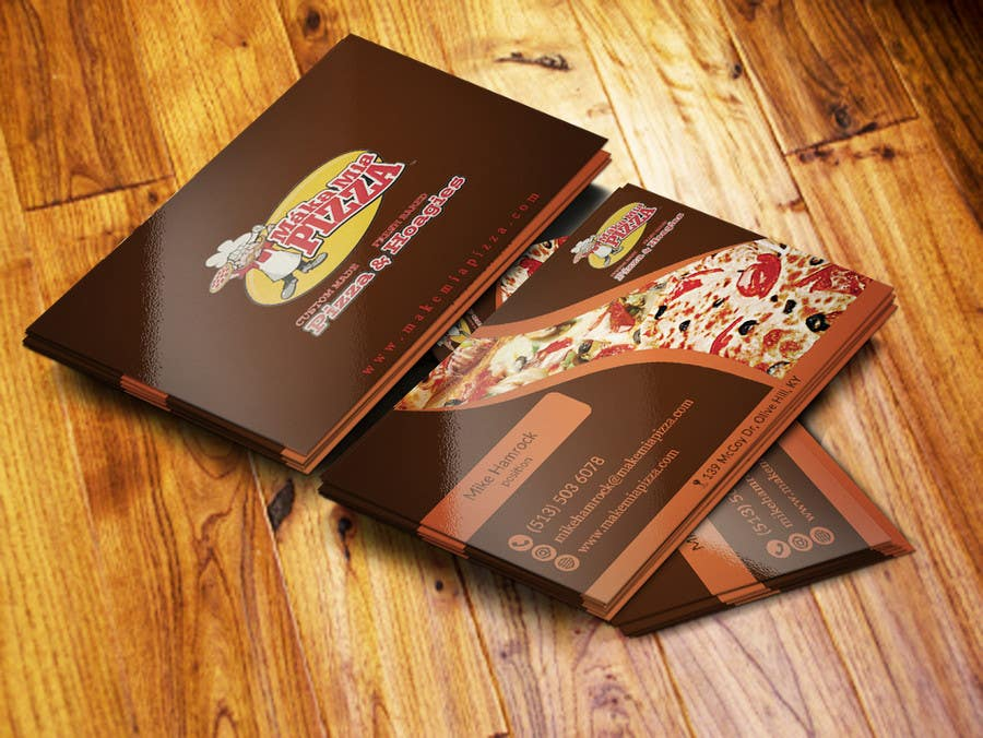 Top Entries - Design some Business Cards for Maka Mia Pizza | Freelancer