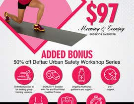 Nro 7 kilpailuun Design a Flyer for my ladies only September fitness program. Needs to be suitable for print and social media käyttäjältä ksh568bb1a94568e