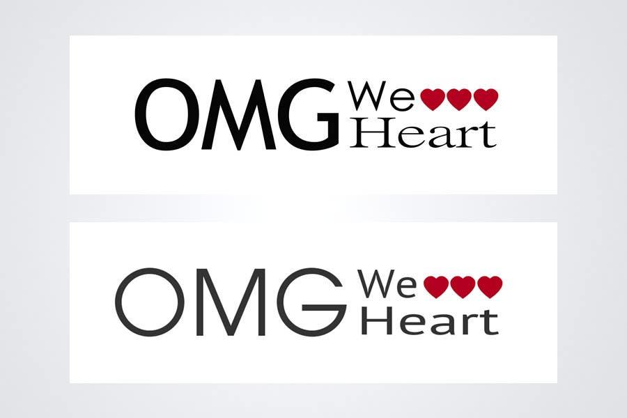 Kilpailutyö #146 kilpailussa Logo Design for new Company name: OMG We Heart.  Website: www.omgweheart.com